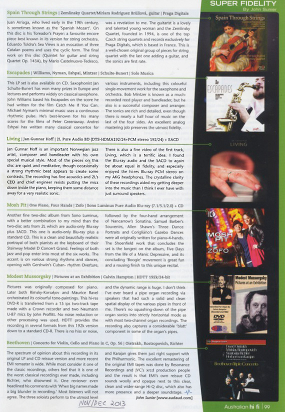 Vinyl and Pure Audio Blu-ray: LIVING (2L-092-SABD) Jan Gunnar Hoff
