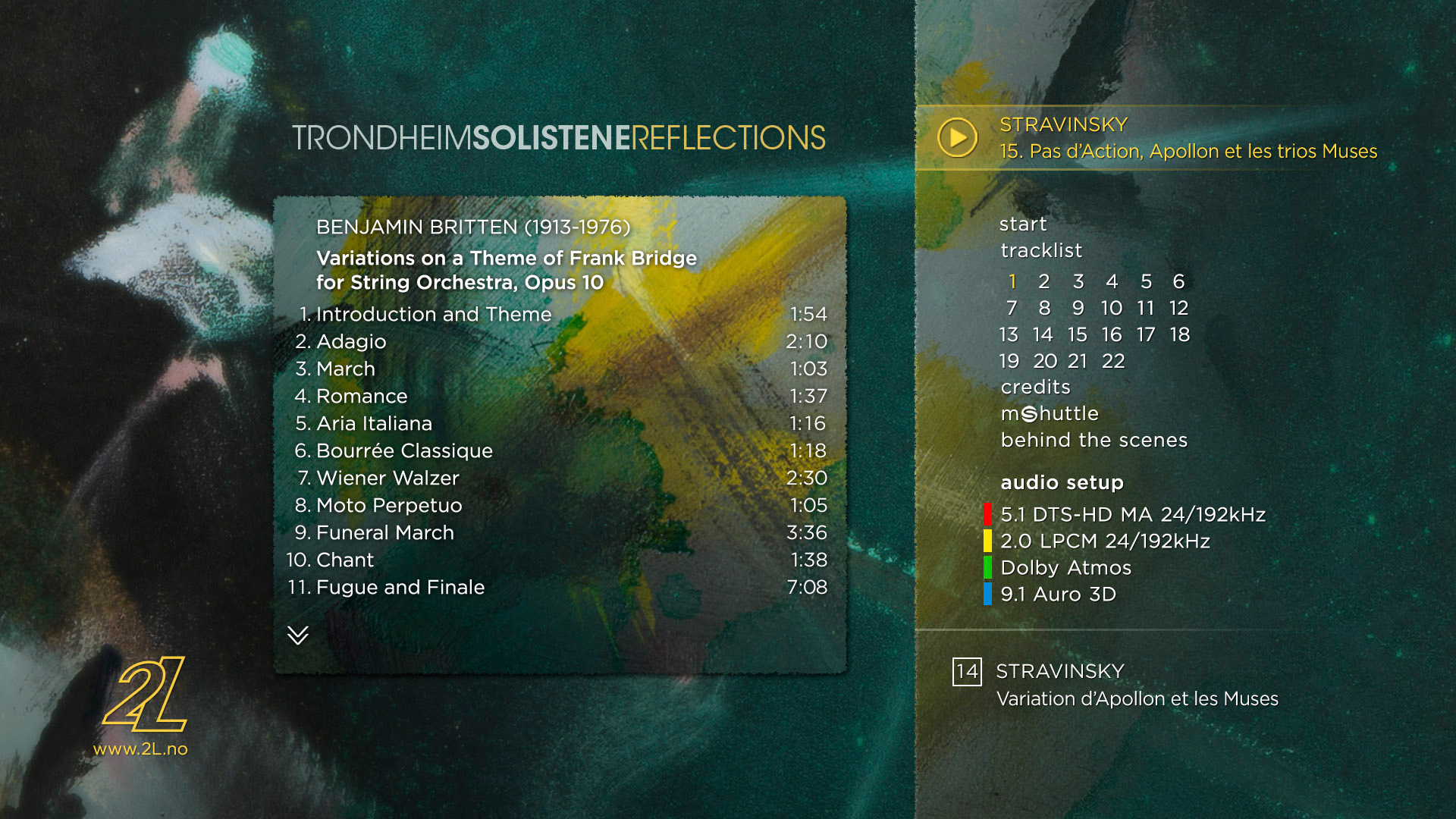 Album: REFLECTIONS (2L-125-SABD) TrondheimSolistene